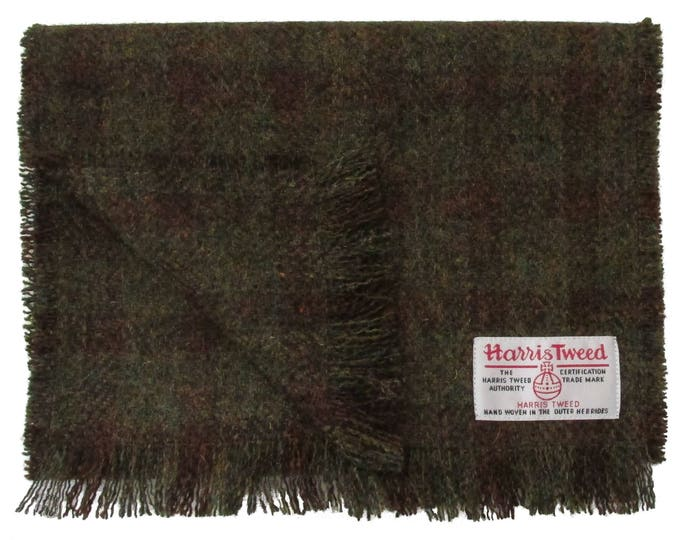 Harris Tweed Crofters Check Luxury Pure Wool Neck Scarf