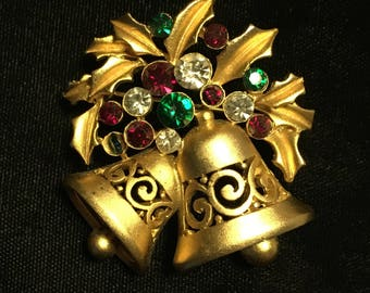 Holiday Bell Brooch / Pin