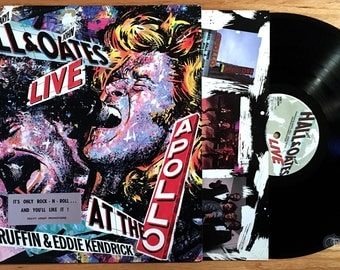 Hall and Oates - Live at the Apollo (1985) Vinyl LP; & David Ruffin