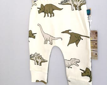Baby clothes, dinosaurs baby leggings, organic baby clothes, leggings, baby trousers, baby pants, baby gift, dinosaurs