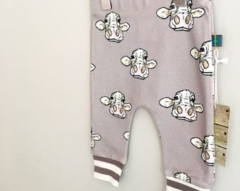 Cow baby leggings, baby clothes, cow baby leggings, organic baby clothes, toddler pants,  baby pants, baby gift, cows, farm
