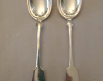 two 800 silver spoons 124 grams from 1902