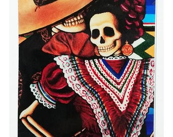 """Amor Eterno Durable Dia De Los Muertos Vinyl Sticker 5"""" x 3 1/4"""""""