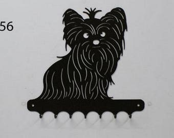 Hangs 26 cm pattern metal keys: Yorkshire dog