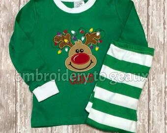 Pre-Order, Monogrammed Christmas Pajamas, Personalized Christmas Pajamas, Kids Christmas Pajamas,Boys Christmas Pajamas, Family XMas PJ's