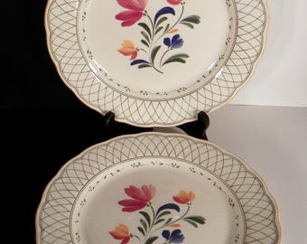 Nikko Hampton Dinner Plate (s) LOT OF 2 Lattice Flowers