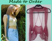Womens Crochet Vest - Endless Summer Collection - Crochet Vest - Made to Order