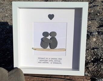 Friend Gift - Cornish Pebble Art Picture