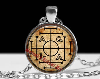 AGLA talisman, AGLA lucky-charm pendant, occult jewelry, AGLA necklace, gnostic jewelry, magic amulet, esoteric, sacred jewelry #431