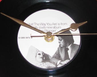 """Billy Joel just the way you are 7"""" vinyl record clock"""