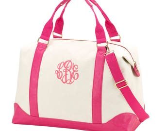 Large Weekend Bag- FREE Personalization, Monogrammed Duffel Bag-Extra Large Bag-Travel Bag, Bridesmaid Gift, Overnight bag- Personalized bag