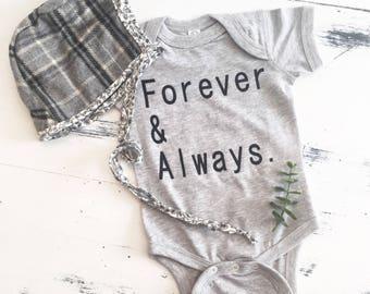 Forever & Always Tee/Onesie - Girls Tee - Toddler Tee - Kids Tee - Infant Onesie - Kids Style - Baby Style