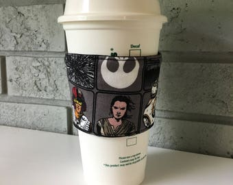Coffee Cup Cozy, Cup Wrap, Coffee Cuff - Star Wars The Force Awakens