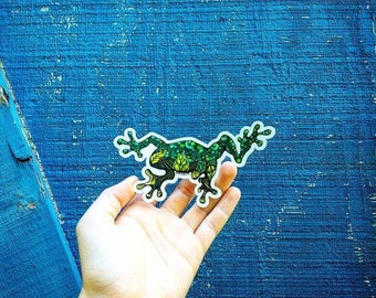 "Tree Frog  sticker  5"" Weatherproof and durable, Outdoor sticker, Travel sticker, Wanderlust, Mountains, Moon , Trees,"