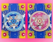 DOUBLE PACK- Alchemy Summoning Circle enamel lapel pin || Limited Edition Glitter and Glow in the Dark anime pin ||