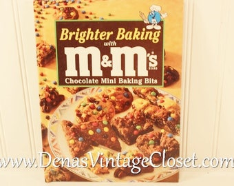 Vintage 1997  Brighter Baking with M & M's Cookbook