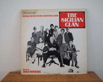 vintage ENNIO MORRICONE ~ The Sicilian Clan 70's vinyl record // movie sound track