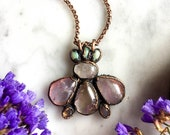 Queen Bee  Moonstone, Amethyst, Opal