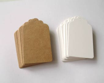 3 colours of 100 Tags tags size medium American 4 cm * 7 cm