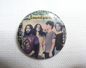 Vintage Early 90s Soundgarden Pin / Button / Badge