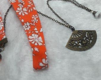 Little Liberty range orange & white necklace