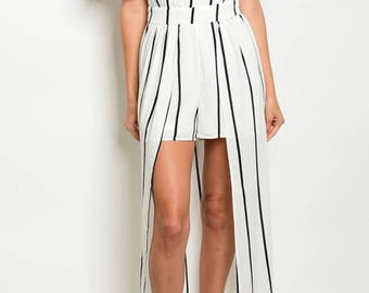 Maxi layered romper with front bow