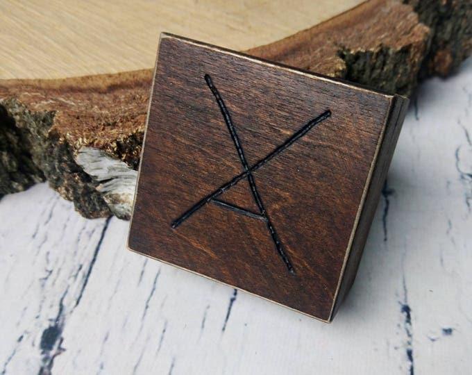 Rustic engagement ring box, wedding pillow rustic looking old vintage rustic wedding burlap  custom engraved wood burnt writing distressed