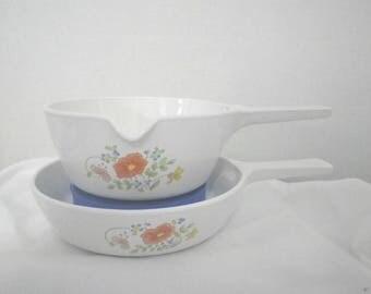 Corningware Wildflower 2 Piece Saucepan Set