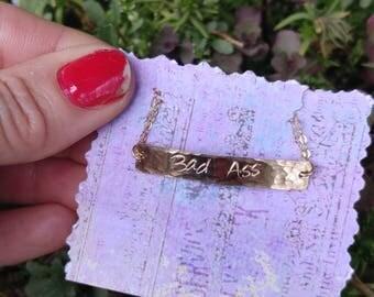 custom order gold fill bar bracelet