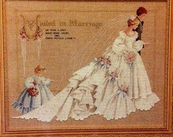 The Wedding Cross Stitch Pattern Lavender & Lace Victorian Designs