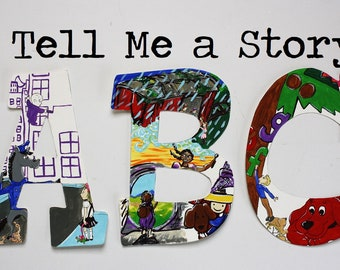 Tell Me a Story Alphabet Wall Letters
