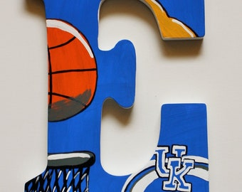 Sports Team Custom Wall Letters -- Hand Painted Wooden Letters -- Price Per Letter