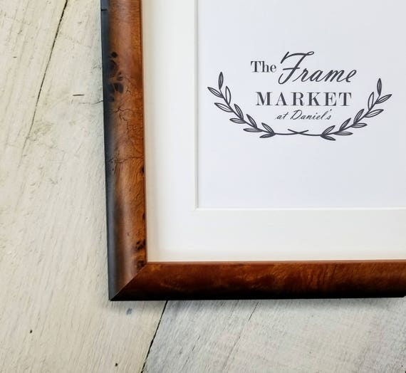 Hugh Burl Light Wood Picture Frame With White Mat 8x10
