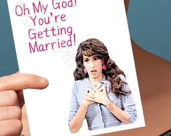 Funny Bridesmaid Card | Youre My Lobster | Marriage Card Wedding Gift Congratulations Funny Wedding Card Friends Tv Show Funny Engagement