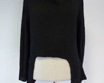 Special price, black boucle sweater, XL size.