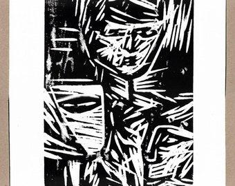 """Roman Lasa """"Mask"""" wood 2017"""