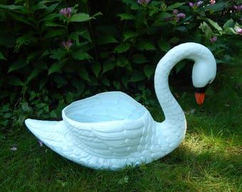 Swan Garden Planter Etsy