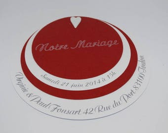 Do - wedding invitation - red and white circle theme