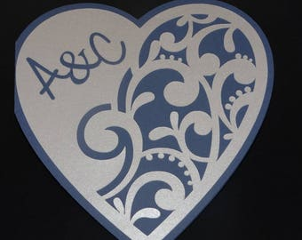 Share arabesque baroque initial heart