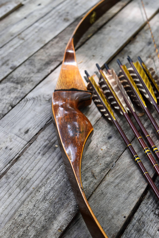 Archery Bow Vintage Feline Panther Hunter 40 Recurve Bow