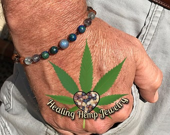 Mens anti-inflammatory healing bracelet (screw clasp)