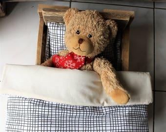 doll bedding, doll bedding set, poupee literie, poupee matelas, oreiller poupee