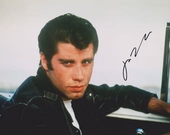 "John Travolta Original Vintage Hand Signed 8X10 Autographed ""Grease"" Movie Photo"