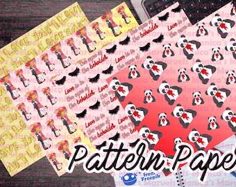 Printable Valentine's Pattern Papers