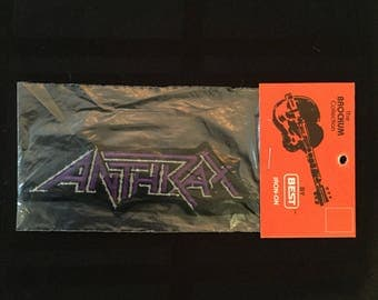 Vintage 90's Anthrax Patch