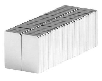 1/2 x 1/4 x 1/16 Inch Neodymium Rare Earth Block Magnets N42 (50 Pack)