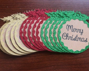 Glitter Ornament Gift Tags