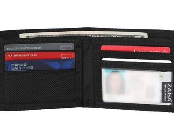 Bi-Fold Black Nylon Ballistic Wallet - Made In USA