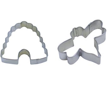 "Bumble Bee Beehive Cookie Cutter Set Bee Cookie Cutter Bumble Bee Cookie Cutter Beehive Cookie Cutter Set Bee 3"" Beehive 4"" RM-1257-912"