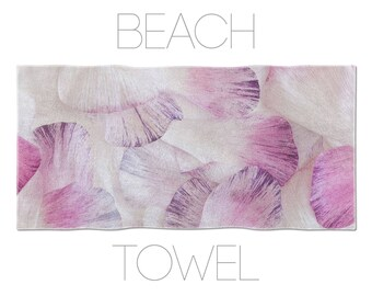Flower Petals Beach Towel, Ranunculus Petals, Printed Beach Towel, Photo Towels, Purple Beach Towel, Floral Towel, Bathroom Linen